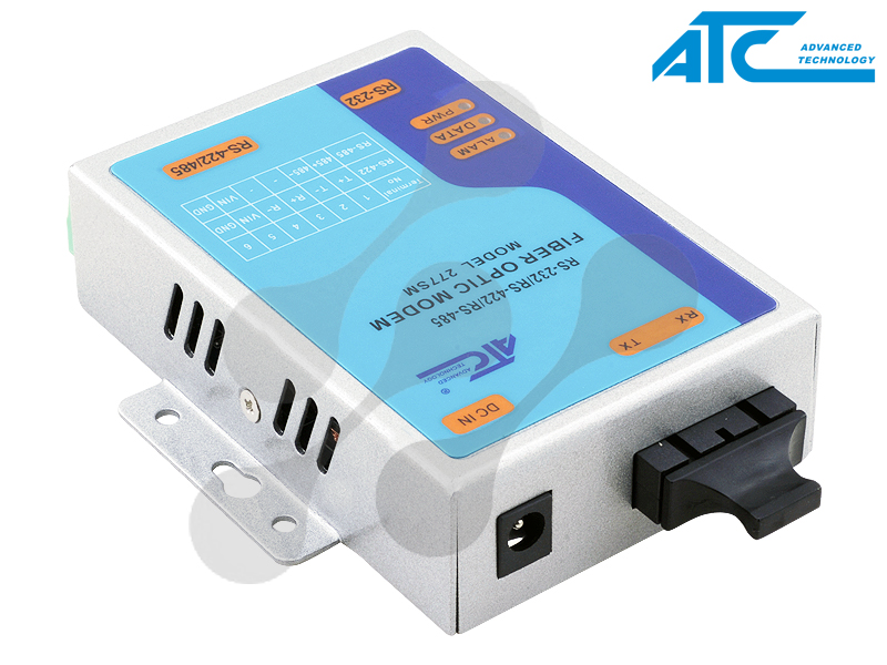 Atc-277m Serial Fiber Optic Modem With Connector SC Fiber